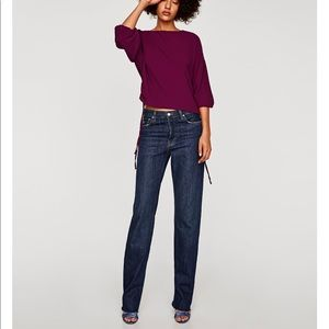 Top with Elastic cuffs and gathered sleeves, NWT